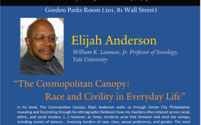 Elijah Anderson Discusses The Cosmopolitan Canopy this Evening in Manhattan