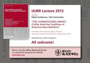 IJURR Lecture: THE COSMOPOLITAN CANOPY: Civility Amid the Faultlines of American Race Relations
